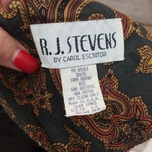 R.J. Stevens Dresses - Vintage R.J. Stevens 14 paisley dress with belt